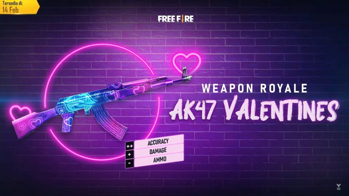 Skin Ak47 Ff Baru Berlian Valentine Free Fire 2020 Esportsku