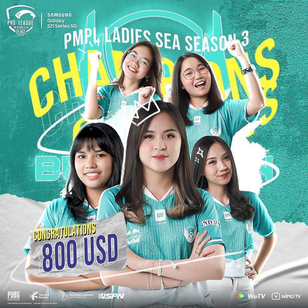 Belletron Ace Juarai PMPL Ladies SEA Season 3