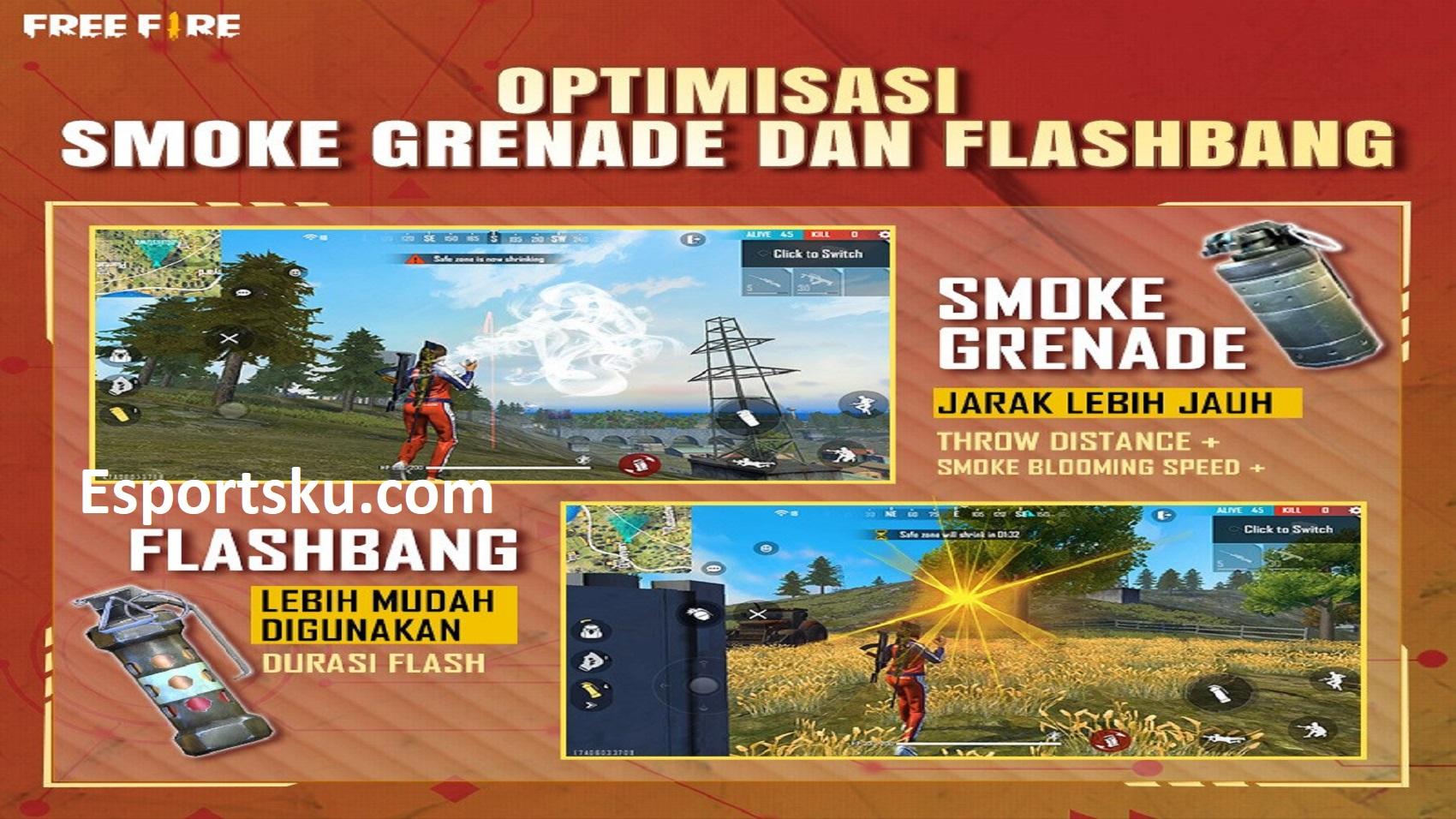 5 Kecerobohan Player Free Fire Pakai Flashbang FF