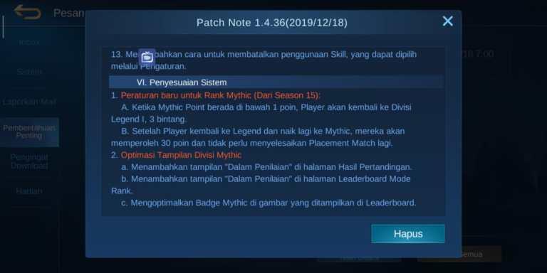 Apakah Mythic Bisa Turun ke Legend 2021?