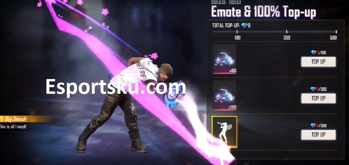 Cara Mendapatkan Emote Big Smash Free Fire (FF)