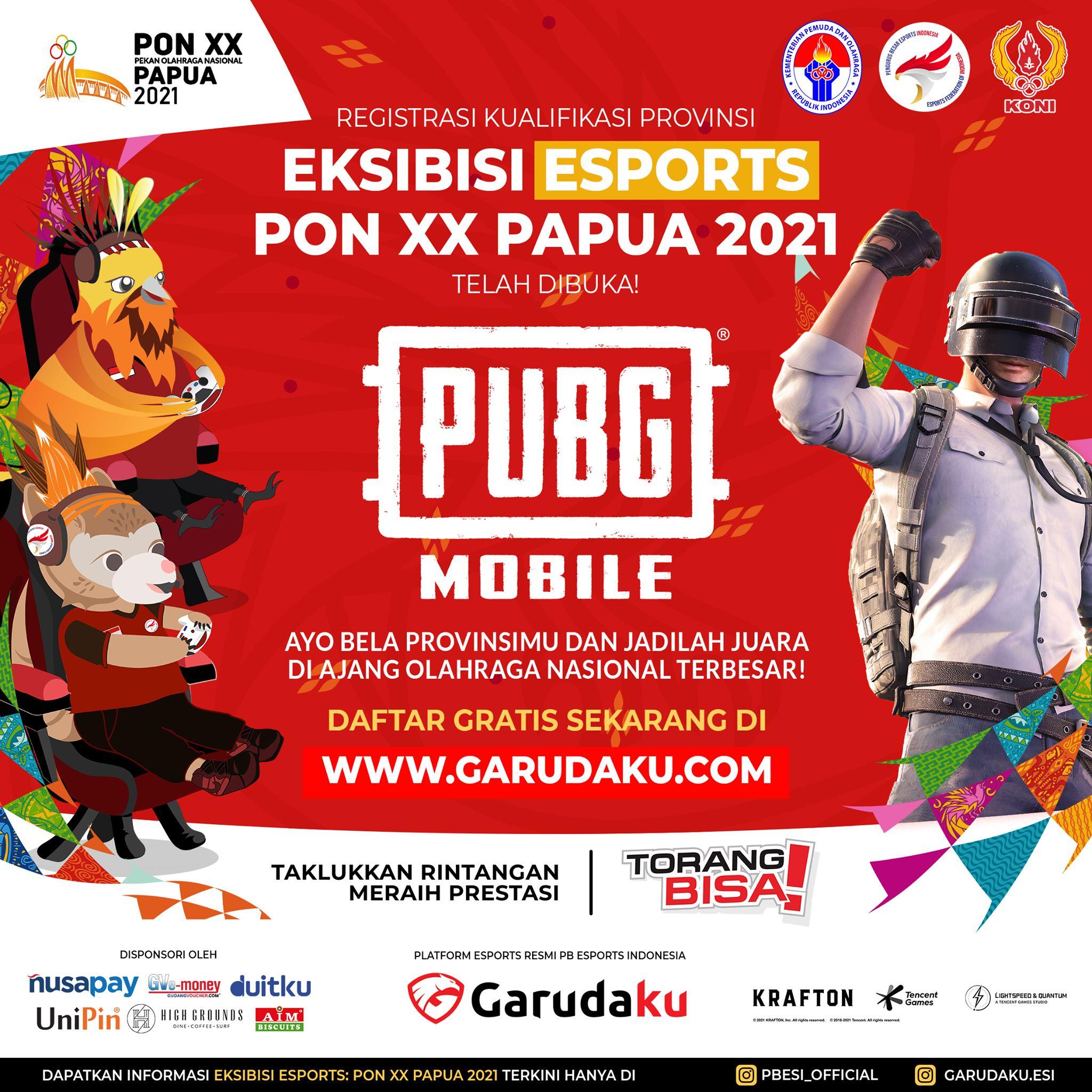 registrasi kualifikasi provinsi eksibisi esports PON XX Papua 2021